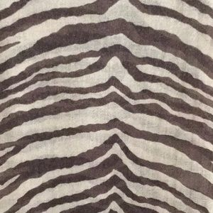 Brown and Tan Zebra Print Scarf